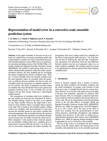 Representation of Model Error in a Conve... by Baker, L. H.