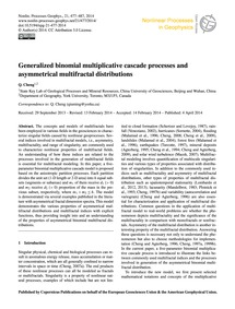 Generalized Binomial Multiplicative Casc... by Cheng, Q.