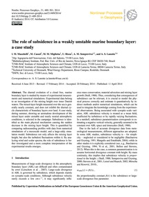 The Role of Subsidence in a Weakly Unsta... by Mazzitelli, I. M.