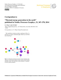 Corrigendum to Thermal Energy Generation... by Mayer, F. J.