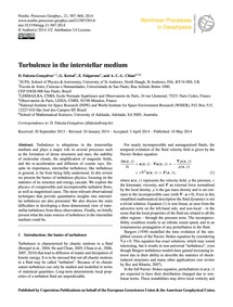 Turbulence in the Interstellar Medium : ... by Falceta-gonçalves, D.