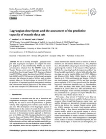 Lagrangian Descriptors and the Assessmen... by Mendoza, C.