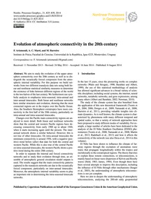 Evolution of Atmospheric Connectivity in... by Arizmendi, F.