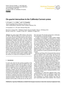 On Quartet Interactions in the Californi... by Ivanov, L. M.