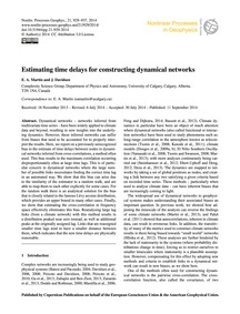 Estimating Time Delays for Constructing ... by Martin, E. A.