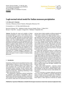 Logit-normal Mixed Model for Indian Mons... by Dietz, L. R.
