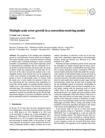 Multiple-scale Error Growth in a Convect... by Uboldi, F.