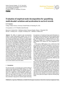 Evaluation of Empirical Mode Decompositi... by Chambers, D. P.