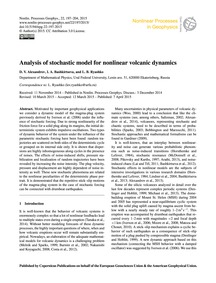 Analysis of Stochastic Model for Nonline... by Alexandrov, D. V.