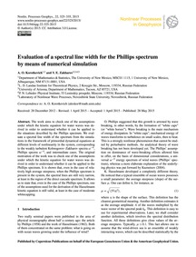 Evaluation of a Spectral Line Width for ... by Korotkevich, A. O.