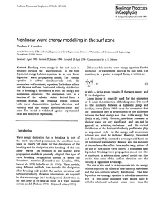 Nonlinear Wave Energy Modelling in the S... by Karambas, Th. V.