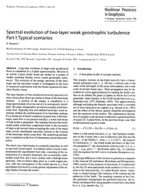 Spectral Evolution of Two-layer Weak Geo... by Soomere, T.