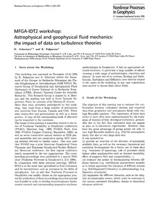 Mfga-idt2 Workshop: Astrophysical and Ge... by Schertzer, D.