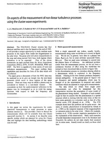 On Aspects of the Measurement of Non-lin... by Wooliscroft, L. J. C.