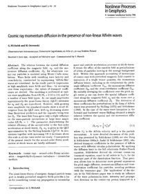 Cosmic Ray Momentum Diffusion in the Pre... by Michałek, G.