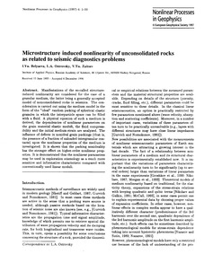 Microstructure Induced Nonlinearity of U... by Belyaeva, I. Yu.