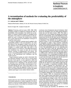 A Reexamination of Methods for Evaluatin... by Anderson, J. L.