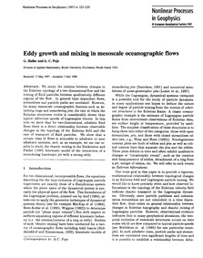 Eddy Growth and Mixing in Mesoscale Ocea... by Haller, G.
