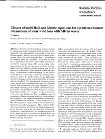 Closure of Multi-fluid and Kinetic Equat... by Marsch, E.