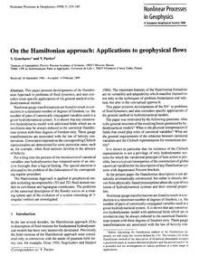On the Hamiltonian Approach: Application... by Goncharov, V.