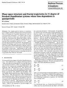 Phase Space Structure and Fractal Trajec... by Brown, M. G.