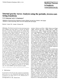 Internal Gravity Waves: Analysis Using t... by Zimmerman, W. B.