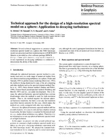 Technical Approach for the Design of a H... by Ishioka, K.