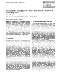 Deterministic Description of a Phase Tra... by Vassalo Pereira, J.