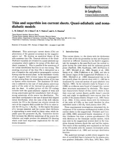 Thin and Superthin Ion Current Sheets. Q... by Zelenyi, L. M.