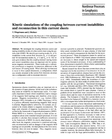 Kinetic Simulations of the Coupling Betw... by Wiegelmann, T.