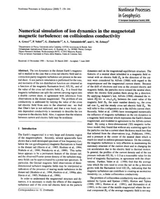 Numerical Simulation of Ion Dynamics in ... by Greco, A.