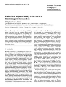 Evolution of Magnetic Helicity in the Co... by Wiegelmann, T.