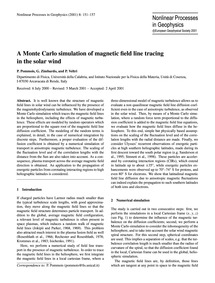 A Monte Carlo Simulation of Magnetic Fie... by Pommois, P.