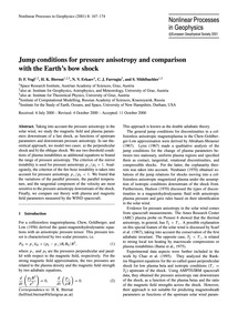 Jump Conditions for Pressure Anisotropy ... by Vogl, D. F.