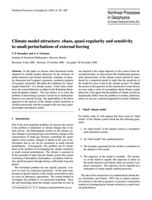 Climate Model Attractors: Chaos, Quasi-r... by Dymnikov, V. P.