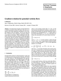 Gradient Evolution for Potential Vortici... by Balasuriya, S.