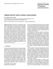 Adjoints and Low-rank Covariance Represe... by Tippett, M. K.