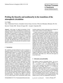 Probing the Linearity and Nonlinearity i... by Tsonis, A. A.
