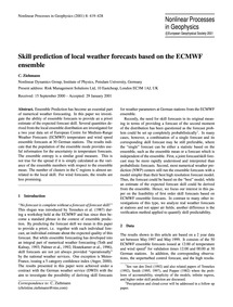 Skill Prediction of Local Weather Foreca... by Ziehmann, C.