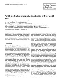 Particle Acceleration in Tangential Disc... by Spicer, D.