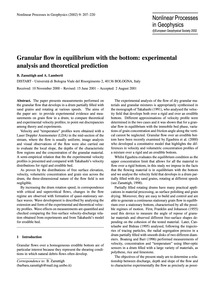 Granular Flow in Equilibrium with the Bo... by Zanuttigh, B.
