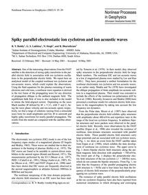 Spiky Parallel Electrostatic Ion Cyclotr... by Reddy, R. V.