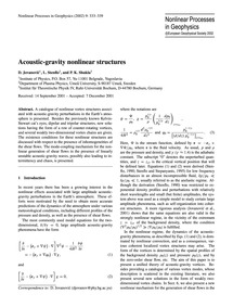Acoustic-gravity Nonlinear Structures : ... by Jovanović, D.