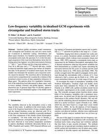 Low-frequency Variability in Idealised G... by Müller, W.