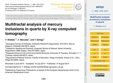 Multifractal Analysis of Mercury Inclusi... by Shibata, T.