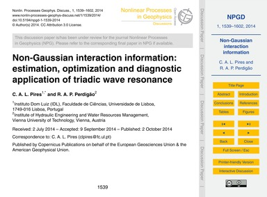 Non-gaussian Interaction Information: Es... by Pires, C. A. L.