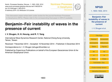 Benjamin–feir Instability of Waves in th... by Shugan, I. V.