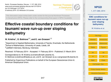 Effective Coastal Boundary Conditions fo... by Kristina, W.