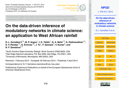 On the Data-driven Inference of Modulato... by González Ii, D. L.