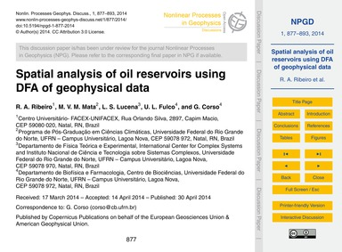 Spatial Analysis of Oil Reservoirs Using... by Ribeiro, R. A.